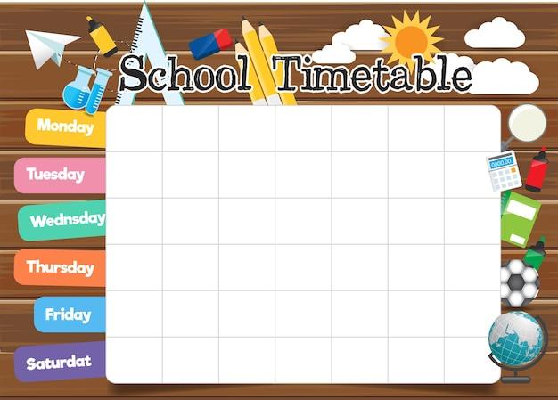 Schule stundenplan vorlage