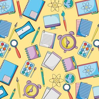 Schule uetensil bildung hintergrund design