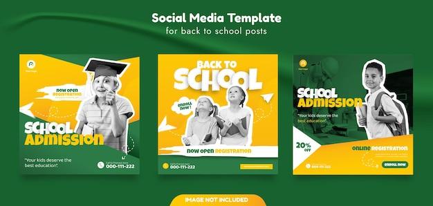 Schuleintritt social media post vorlage