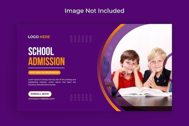 Schuleintritt social media und webbanner flyer facebook titelbild premium-vektor