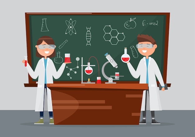 Schulforschung in chemie und wissenschaft.