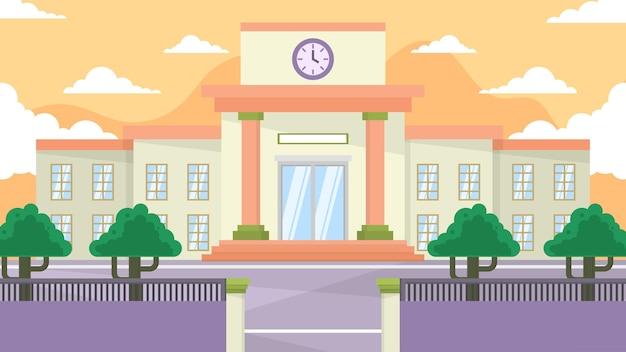 Schulgebäude - außenszenen