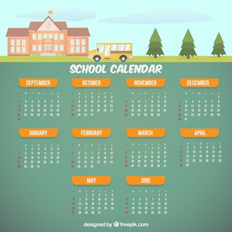 Schulkalender mit bus