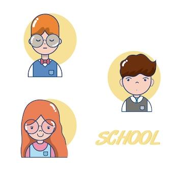 Schullehrer und studenten cartoons