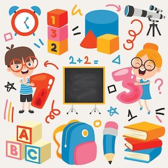 Schulmaterial für die kindererziehung