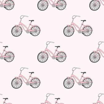 Schulnahtloses muster-farbvektor-illustrations-fahrrad