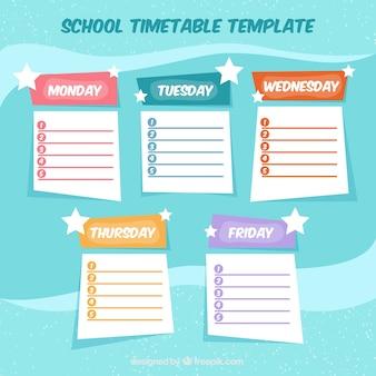 Schulplanvorlage