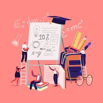 Schulpräsentation illustration Premium Vektoren