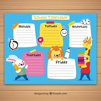 Schulstundenplan zu organisieren