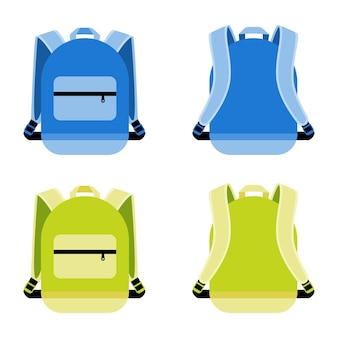 Schultasche eingestellt. tasche und behälter, täglich tragbarer rucksack