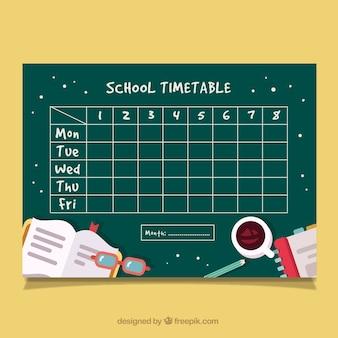 Schulzeitplan mit tachers zubehör