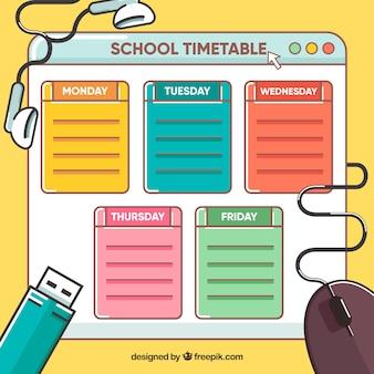 Schulzeitplan und technik
