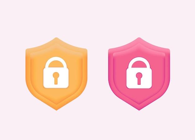 Schutz antivirus datensicherheitskonzept datenschutz schutz banner mit schloss