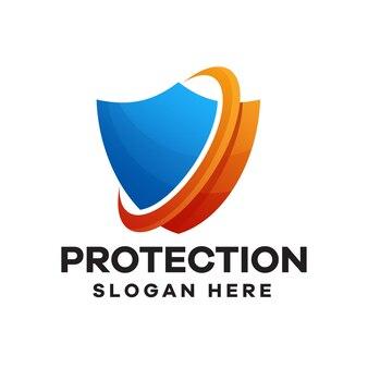 Schutz-farbverlauf-logo-design