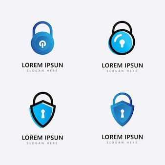 Schutz mit logo in vorhängeschlossform