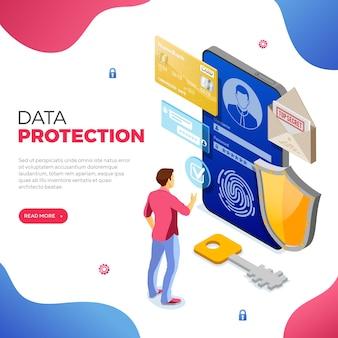 Schutz personenbezogener daten und internetsicherheit