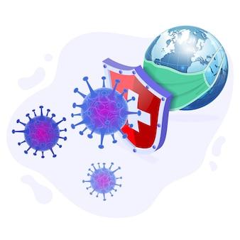 Schutz vor coronavirus-stamm