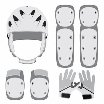 Schutzausrüstung für skateboarding, rollschuhlaufen oder fahrrad