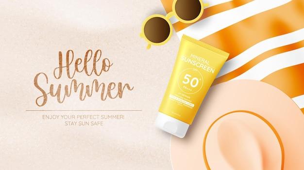 Schutzkosmetikprodukte design, sonnencreme und sonnenbad kosmetikprodukte design gesicht und körper