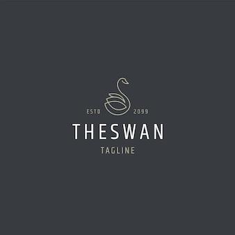 Schwan-logo-symbol-design-vorlage flache vektor-illustration