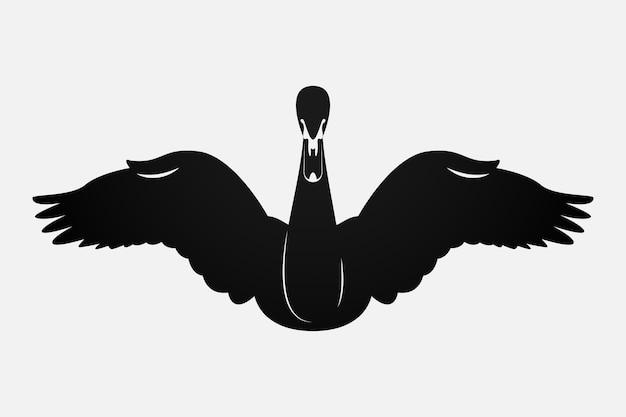 Schwan silhouette konzept