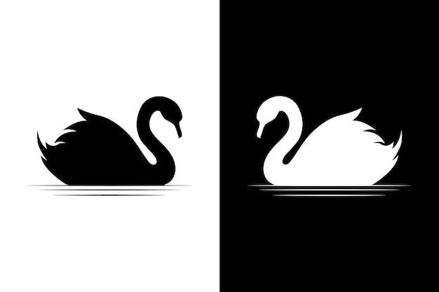 Schwan silhouette sammlung