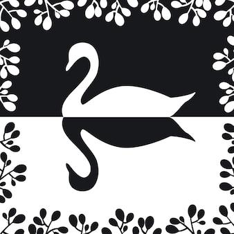 Schwan silhouette