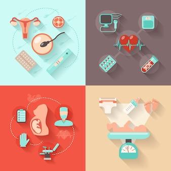Schwangerschaft-Design-Konzept