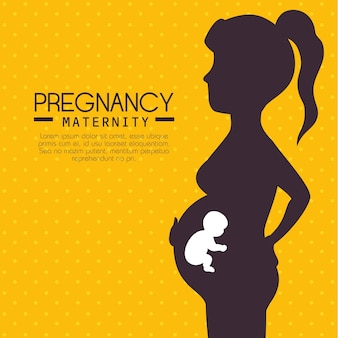 Schwangerschaft und mutterschaft infographic