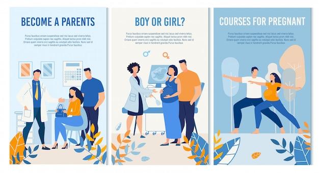 Schwangerschafts-management-set für schwangere vor der geburt