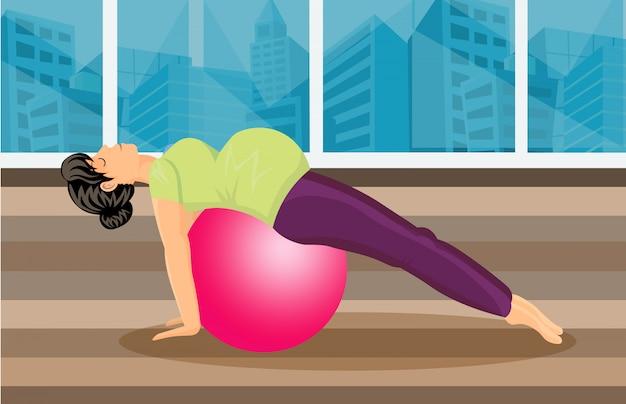 Schwangerschafts-pilates-training