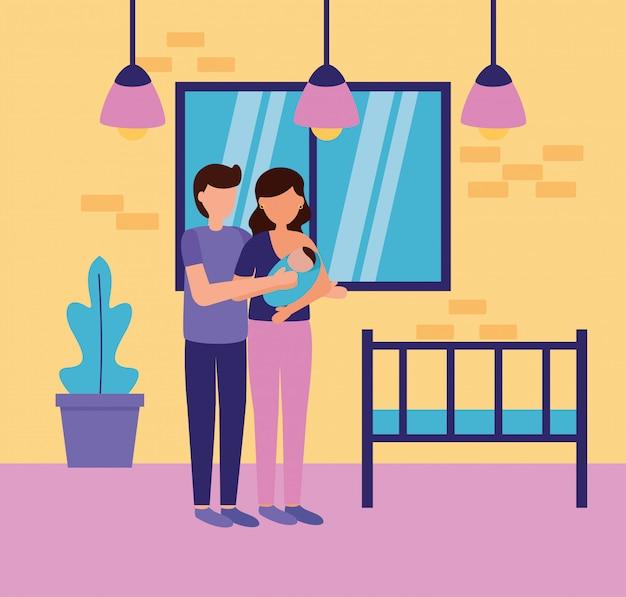 Schwangerschafts- und mutterschaftsszene