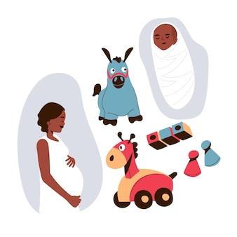 Schwangerschafts- und mutterschaftsszenen