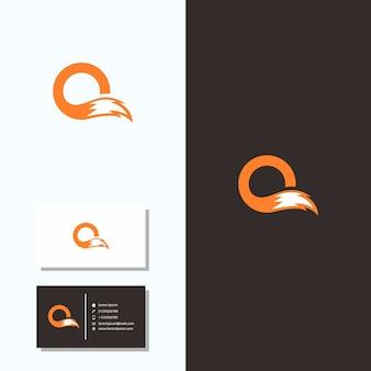 Schwanz des buchstaben o fox logo business card