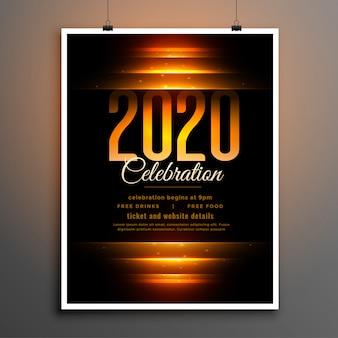 Schwarz 2020 feier flyer vorlage