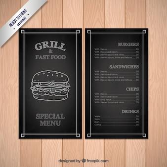 Schwarz fast food menü