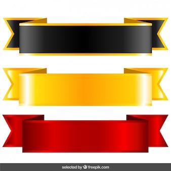 Schwarz, gold und rot etiketten