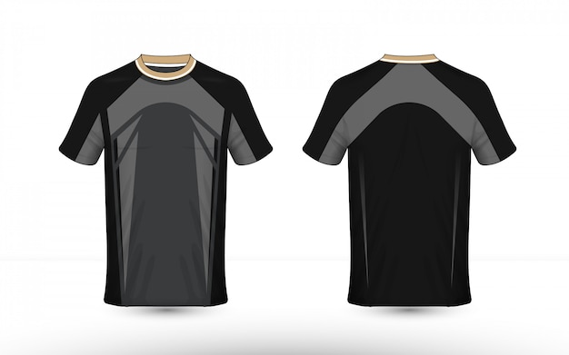 Schwarz-graues layout-e-sport-shirt-design