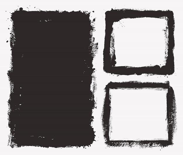Schwarz grunge frames
