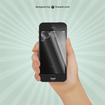 Schwarz iphone vektor