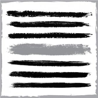 Schwarz pinselstriche gesetzt
