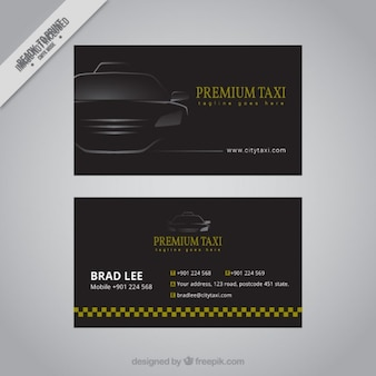 Schwarz Taxi Karte