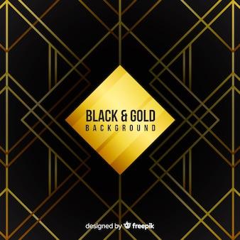Schwarz und gold hintergrund