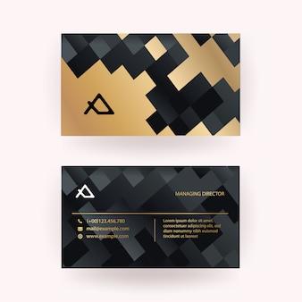 Schwarz und gold luxus-visitenkarte