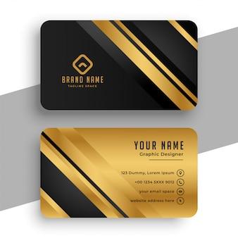 Schwarz und gold visitenkartenvorlage