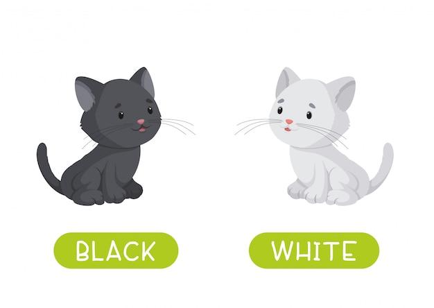 Schwarz und weiß. illustration für kinder als lehrmittel