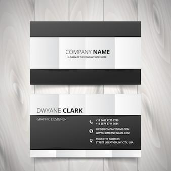 Schwarz und weiß saubere visitenkarte