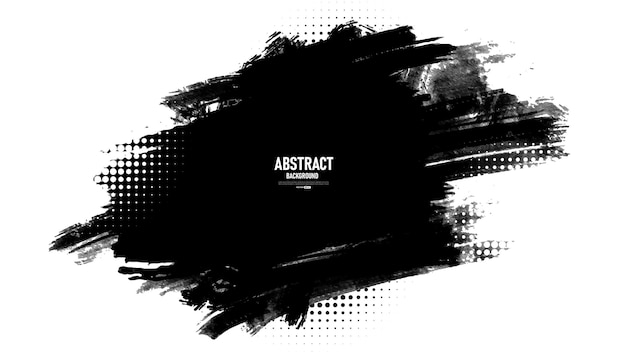 Schwarz-weiß-abstrakter hintergrund mit grunge-textur