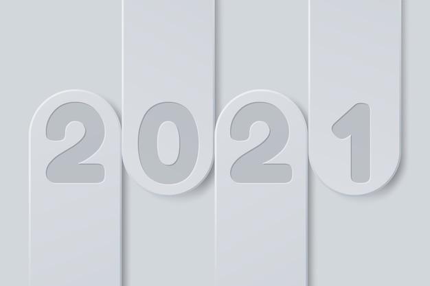 Schwarz-weiß-banner frohes neues jahr im papierstil