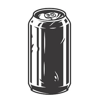 Schwarz-weiß-bier-canretro-bar-menü oder poster